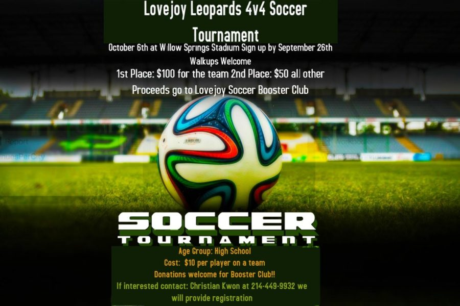 The+proceeds+of+the+tournament+will+benefit+the+Lovejoy+Soccer+Booster+Club.