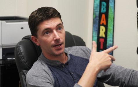 History teacher Brandon Barter