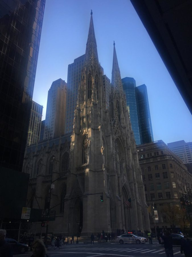 The+Cathedral+on+5th+Ave+sounds+its+bells.+
