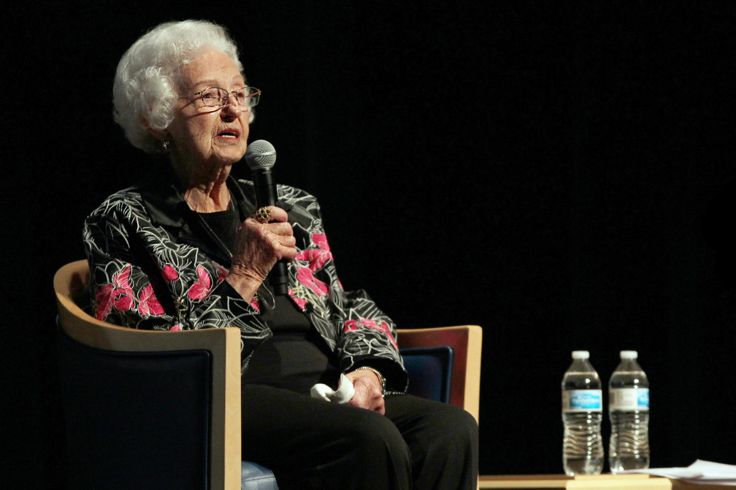 Marie Tippit addresses the audience at the Allen Public Library on Thursday, Nov. 15. Tippit was there to talk about her husband, JD, a police officer killed in the line of duty in 1963 by Lee Harvey Oswald.