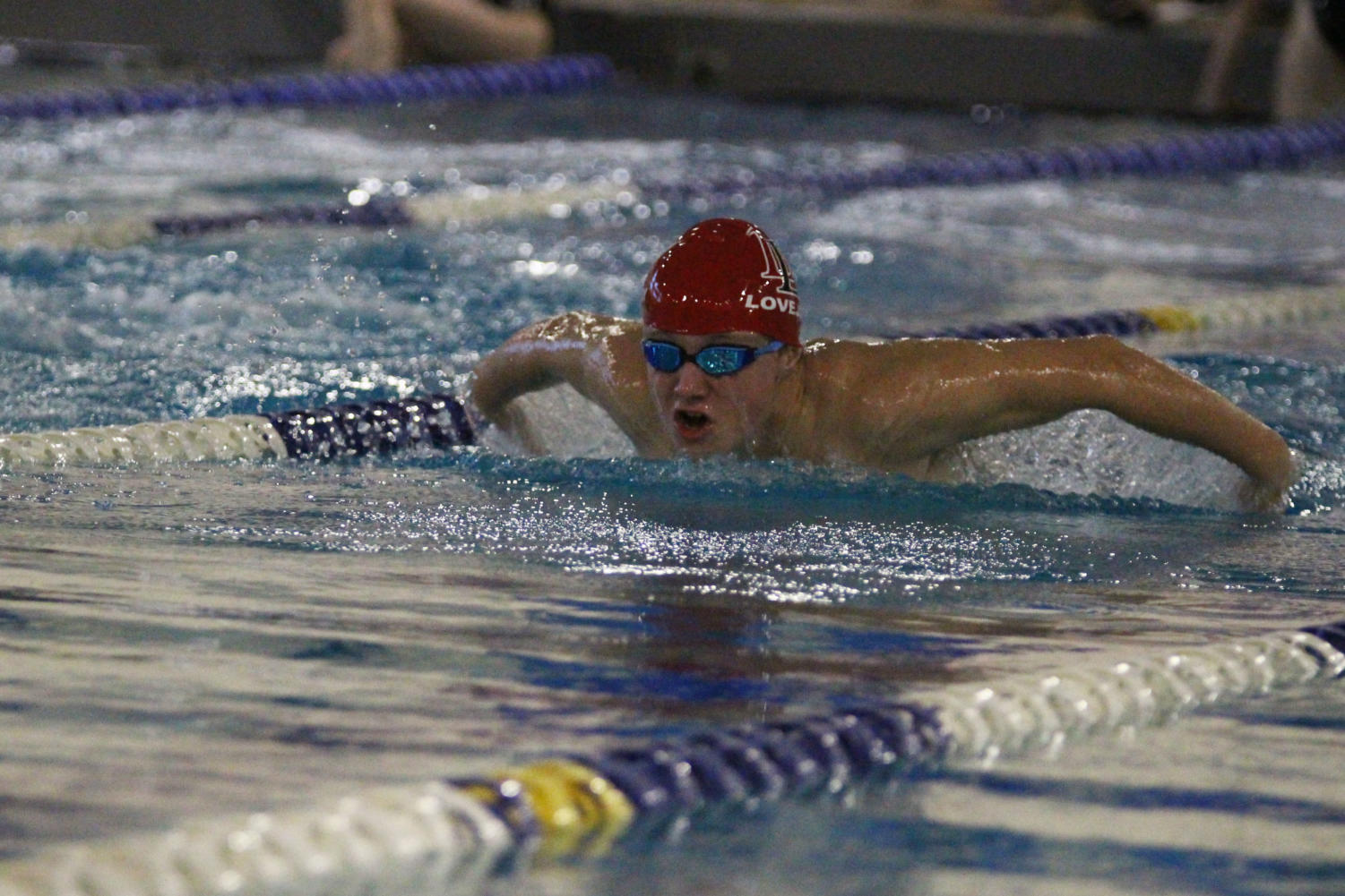 The swim team set seven school records at their meet on Nov. 17.