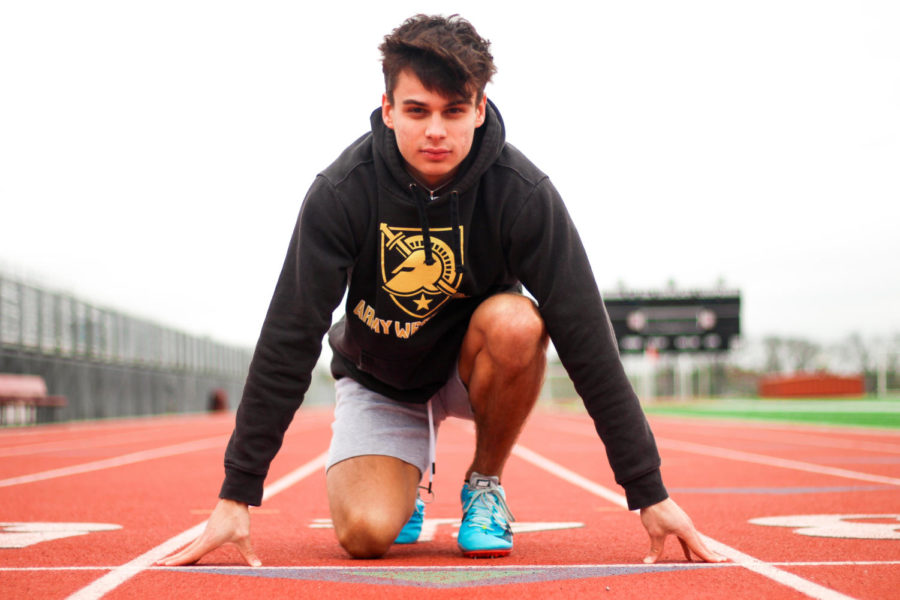 Senior Jake Chamberlin plans to attend West Point to run track after a year of prep school.