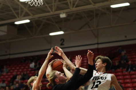 Junior Jared Langs goes up for a rebound.