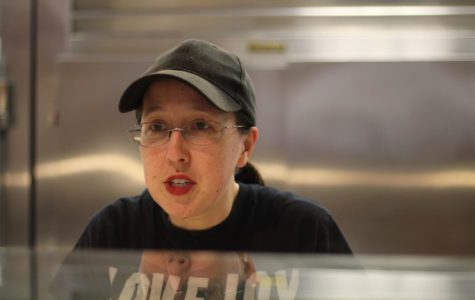 Cafeteria worker Sarah Sanchez