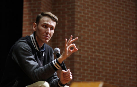 Speaker grabs students' attention at assembly