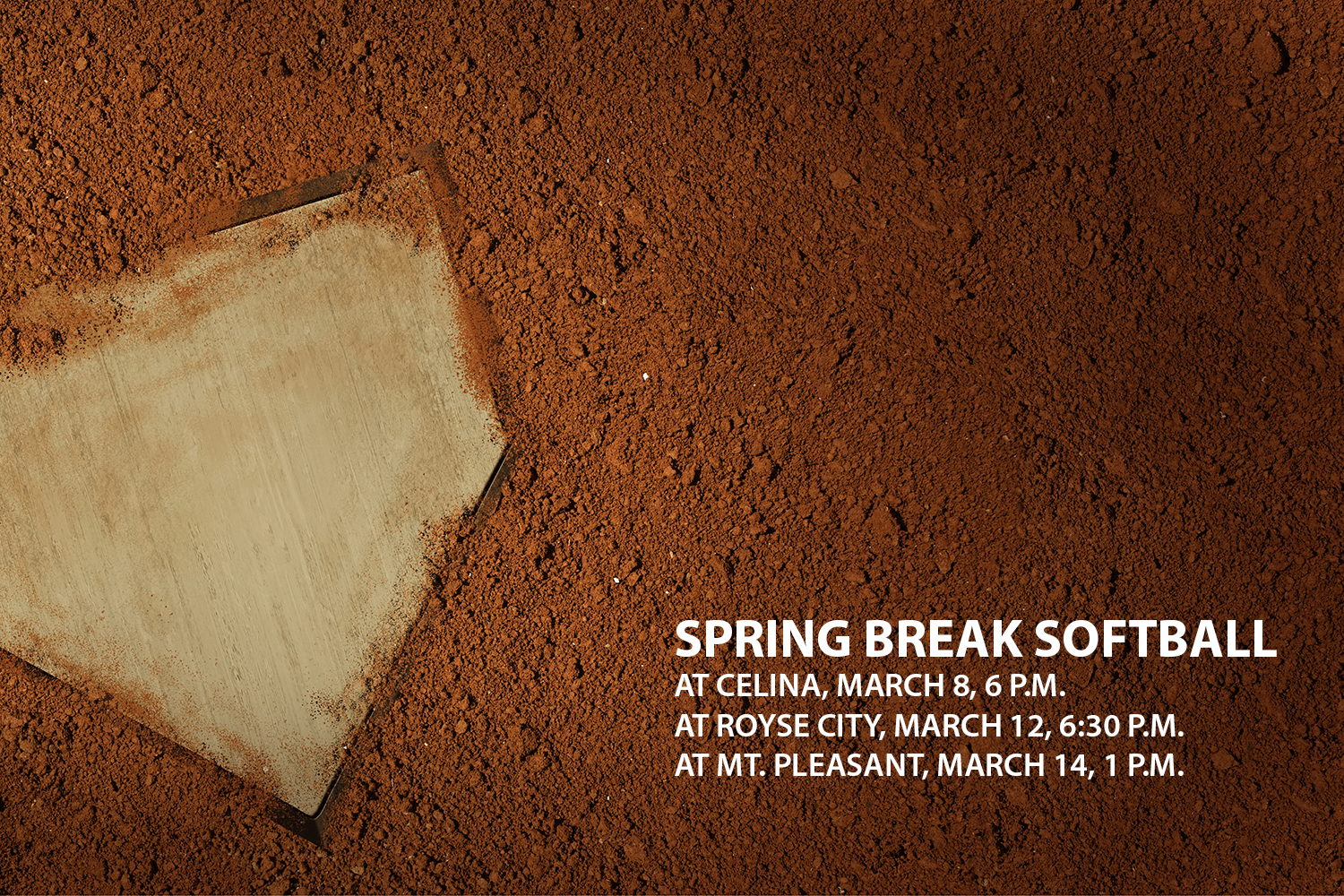 The varsity softball team is set to play three different teams over spring break.