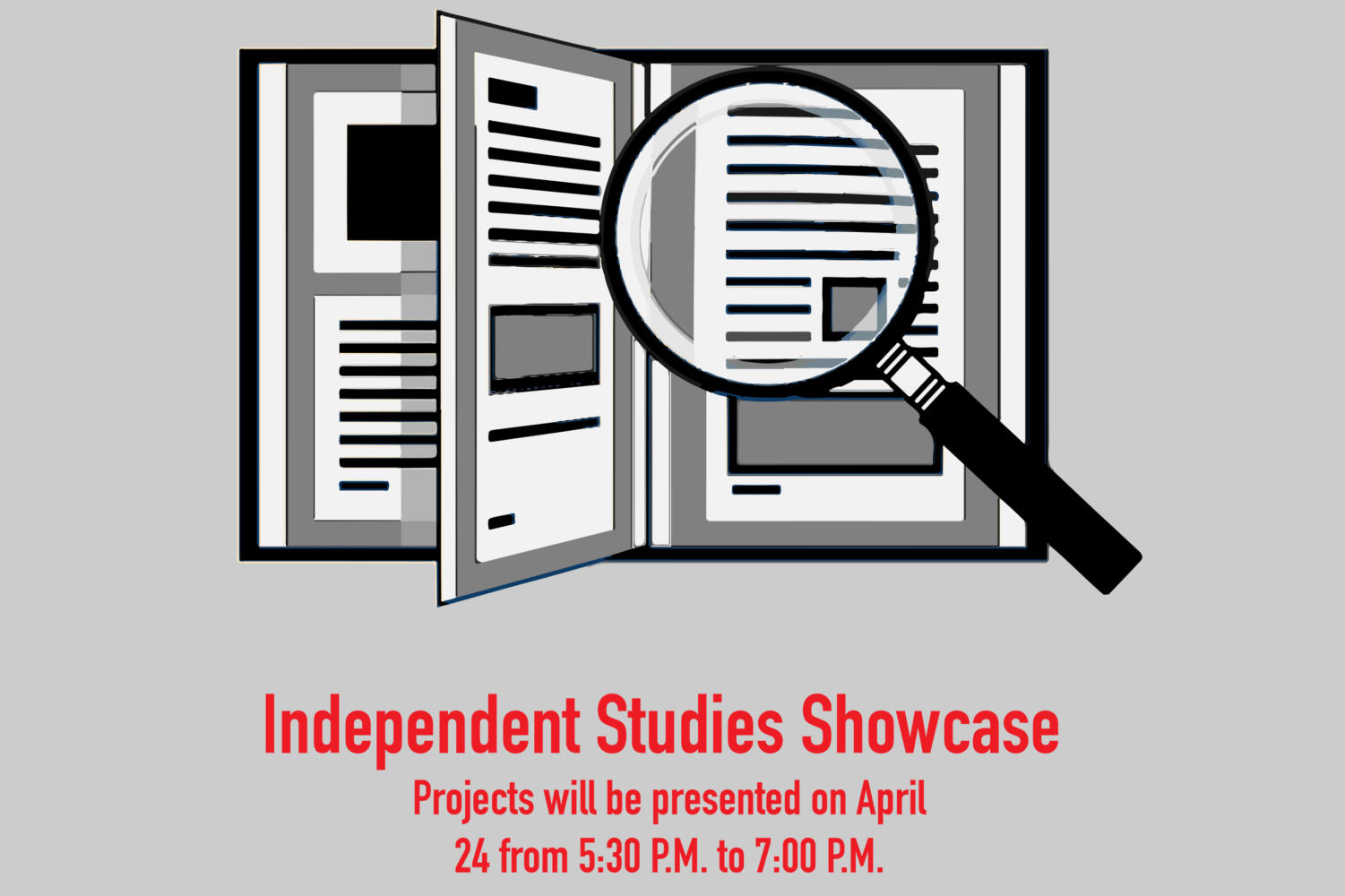 The Independent Studies students study a variety of subjects sporadically, but continue to work on their projects over the course of the year.