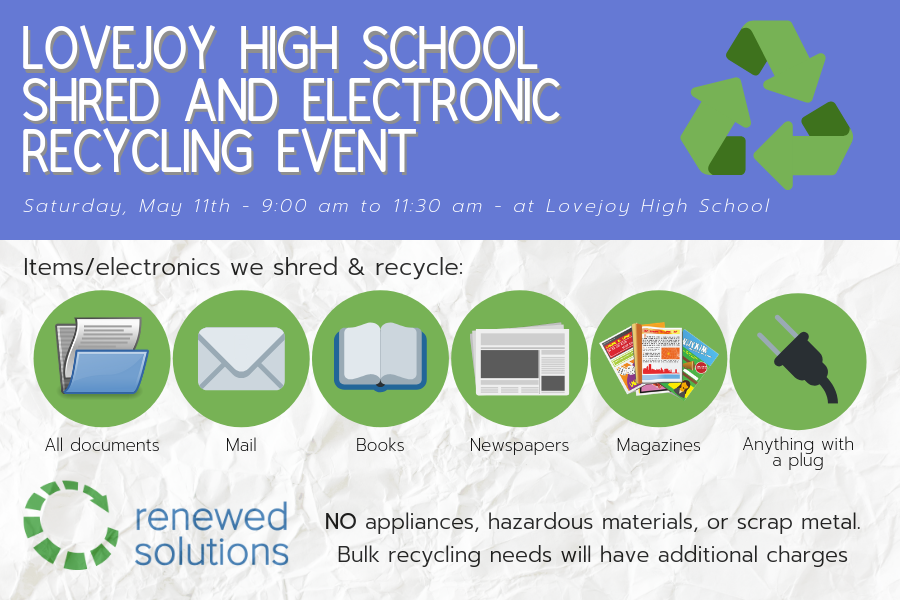 Renewed Solutions to host community recycling event at school