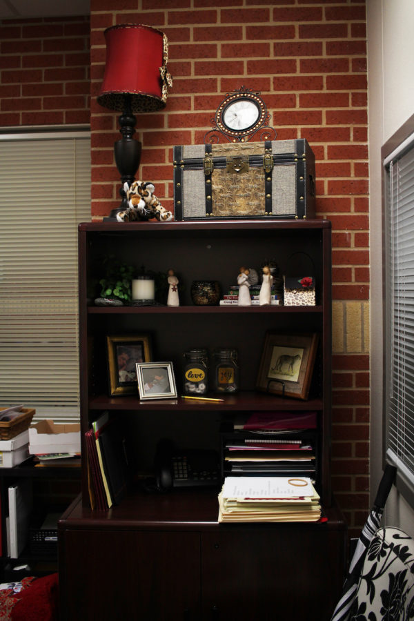 In her office, Fleming keeps pictures of family and encouraging quotes.