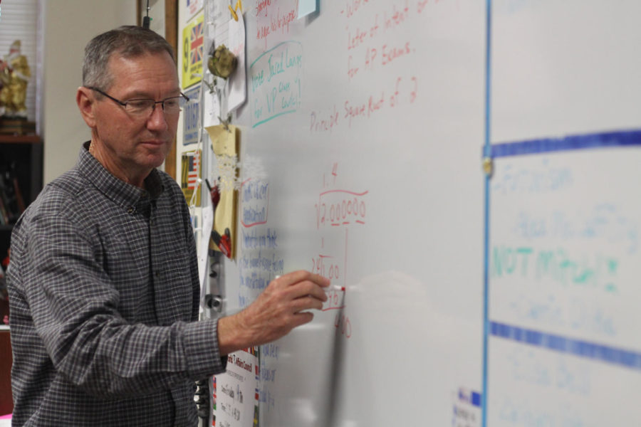 Substitute teacher Larry White teaches a junior english class. White is most often found subbing for the math department.