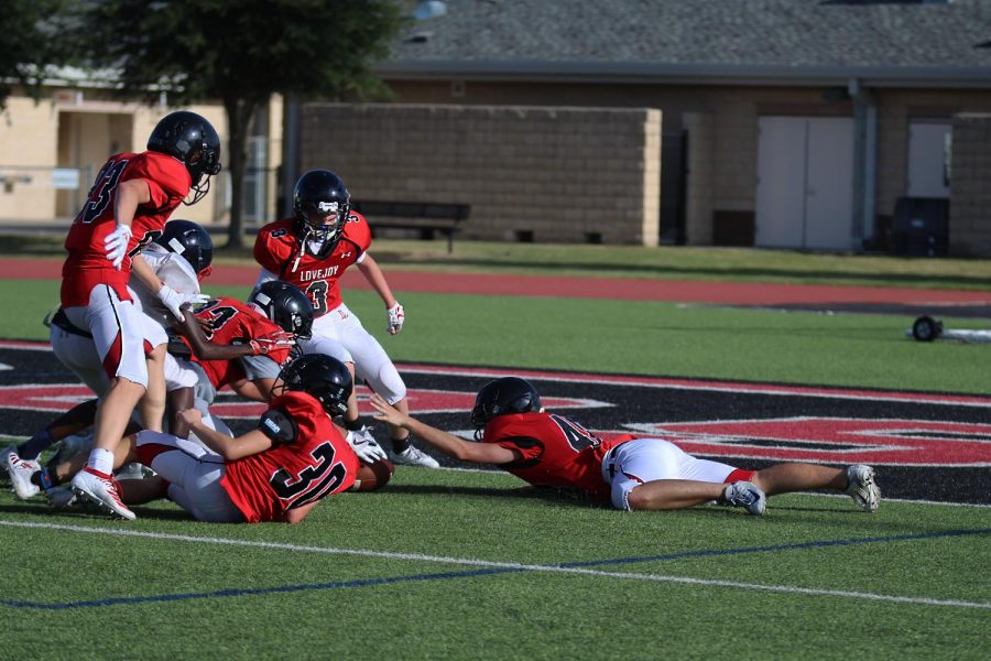 Before the varsity scrimmage, the junior varsity team competed against Frisco Centennial at 5:30p.m.