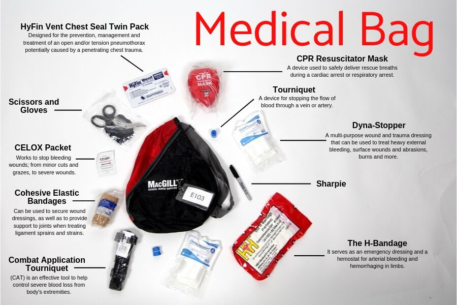 In addition to medical kits, teachers and staff undergo basic first aid training in case of emergency during the school year.