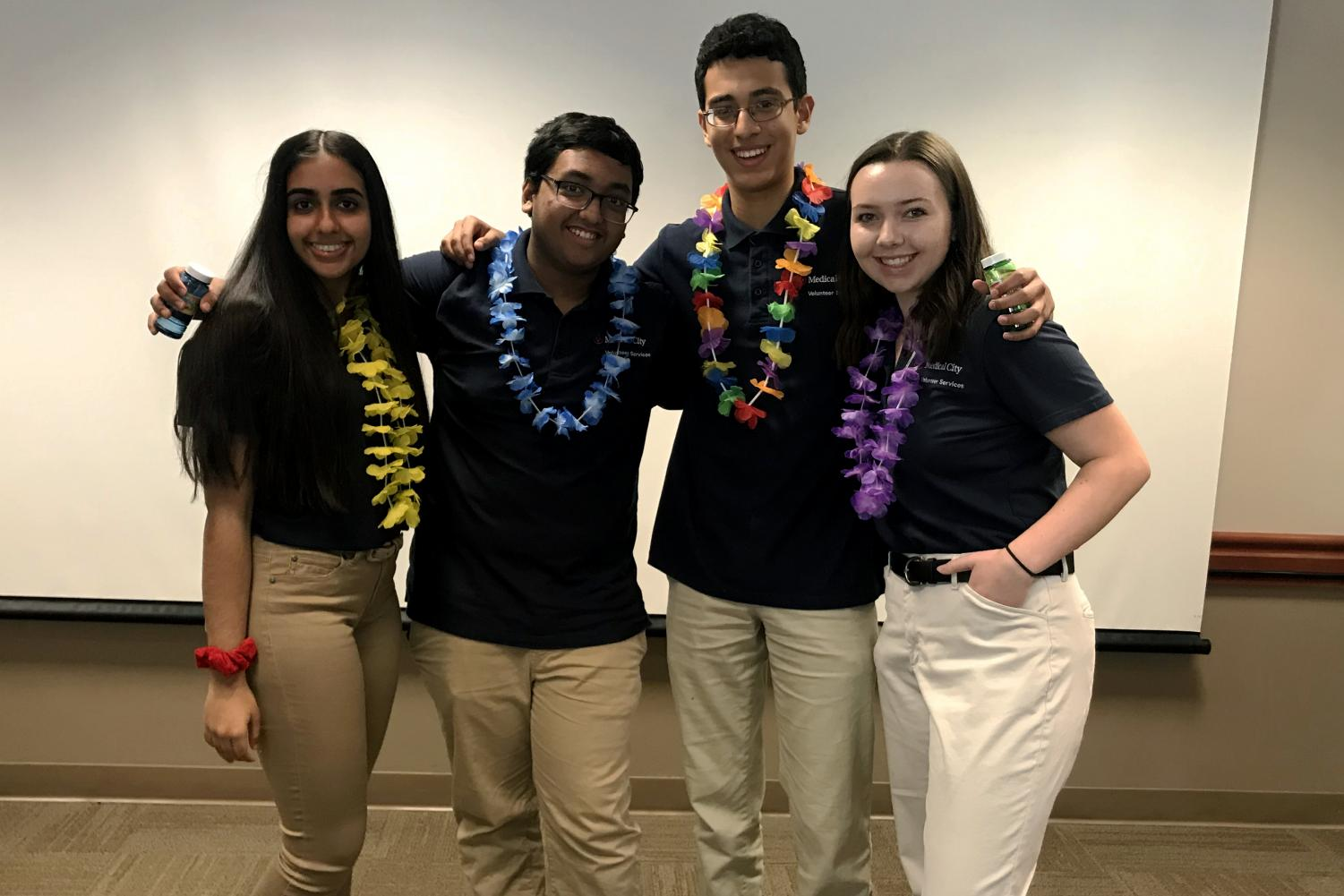 From left: Junior Pahul Ghumman, senior Daiyan Chowdhury, junior Chris Abdalla and sophomore Claire Easley were four of the students out of the 89 total that applied accepted into the internship.