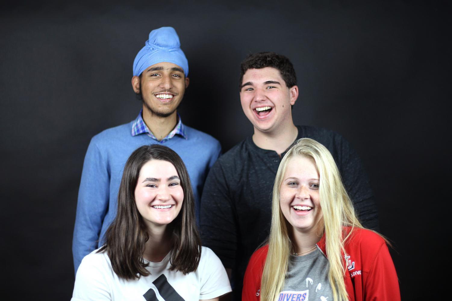 By taking part in this council, juniors Tajvir Singh, Chase Stevens, Allie Johnson and Sierra Rodriguez (from left) will discuss public policy, give insight to the youths opinion on current events, interact with federal representatives and learn leadership skills.