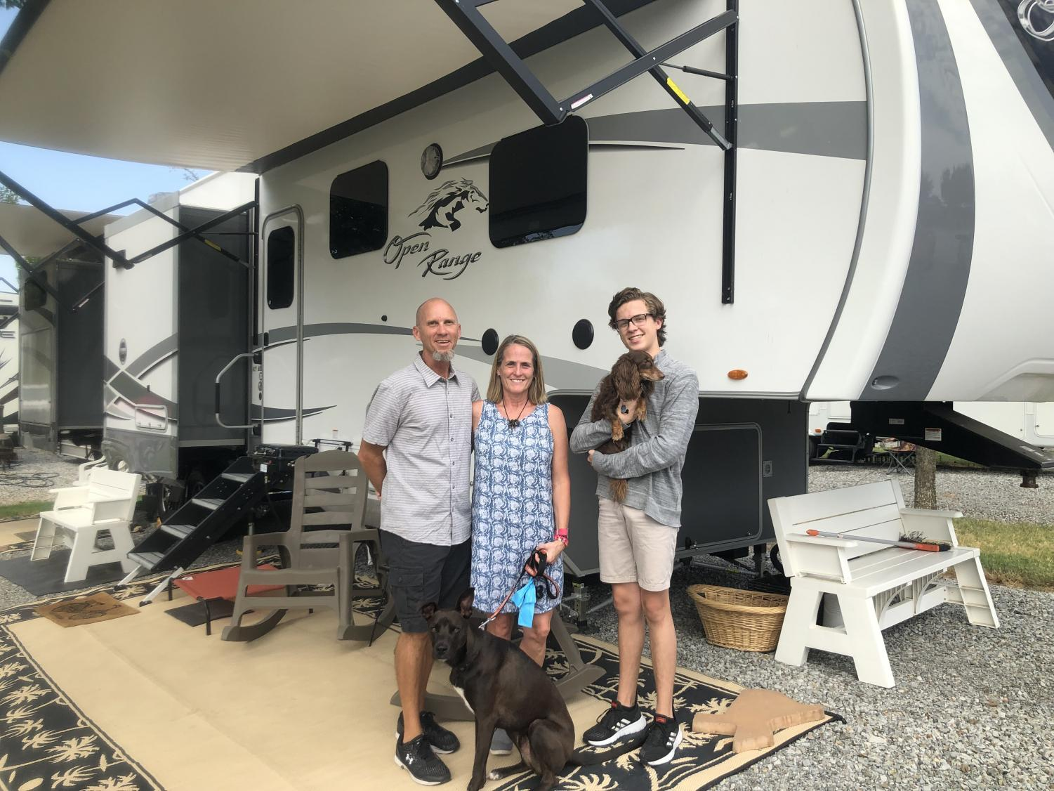 From left: JB, Sheryl and Peyton Nicholson are able to give back more to their church as well as spend more on experiences after downsizing.