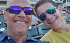 David and Justin Maroney smile prior to a Frisco Rough Riders baseball game in May. Coming to peace with this has not exactly been an easy thing to do, and I really can't say I have yet.
