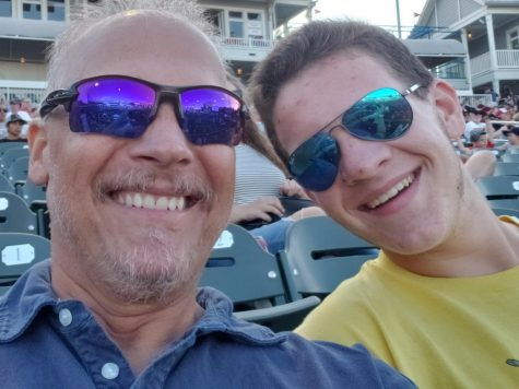 "David and Justin Maroney smile prior to a Frisco Rough Riders baseball game in May. ""Coming to peace with this has not exactly been an easy thing to do, and I really can't say I have yet."""