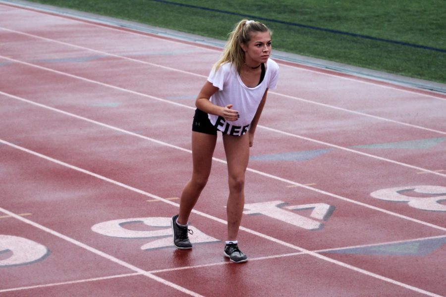 Freshman Amy Morefield took home gold at districts and silver at regionals with times of 18:15.8, 17:29.90.