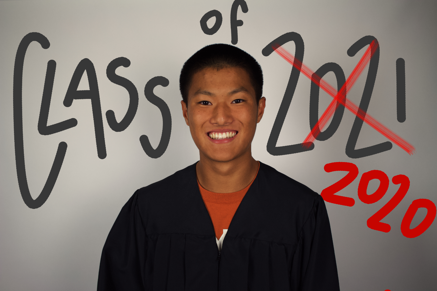 After making the decision to graduate early, William took over as the class of 2020's valedictorian.