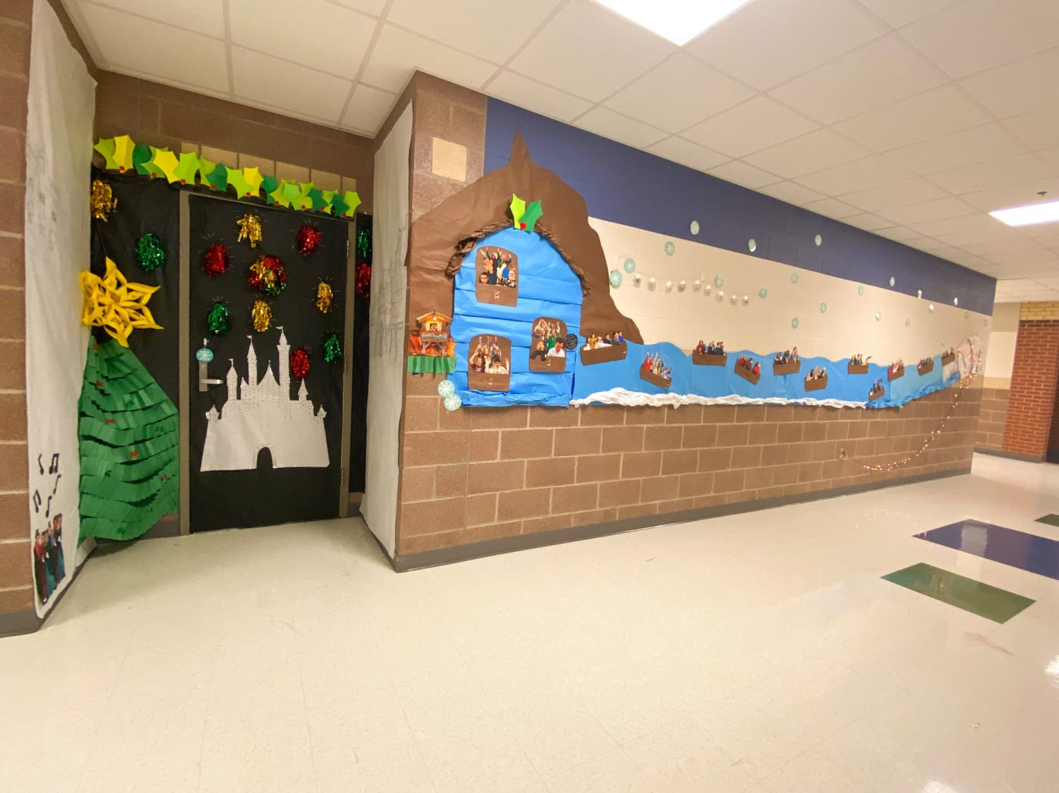 Science teacher Sadaf Syed's door is based off of the Disney ride Splash Mountain. Syed has put pictures of many of her students on the ride.