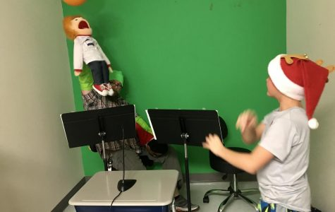 Puster introduces safety puppet show