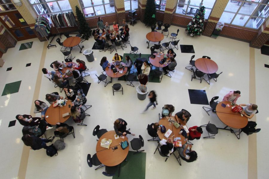 By splitting the B lunch population between A and C lunch and adding tables, removing B lunch may be easier than it seems.