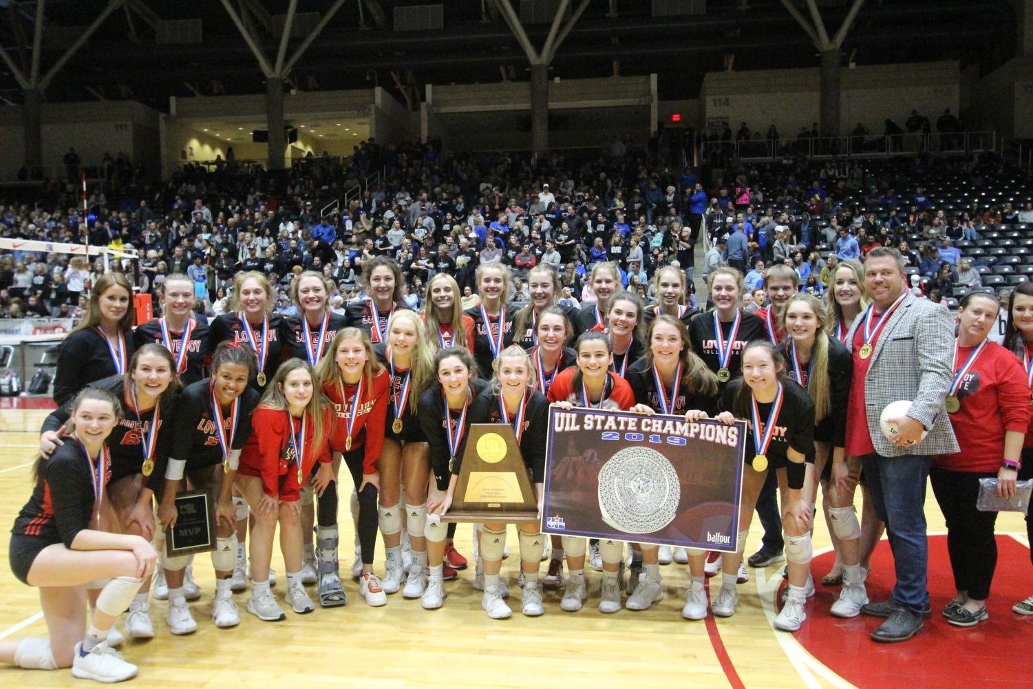 The volleyball team won their 7th UIL state championship Nov. 23. Their win marked the first state championship since their 2014 season.