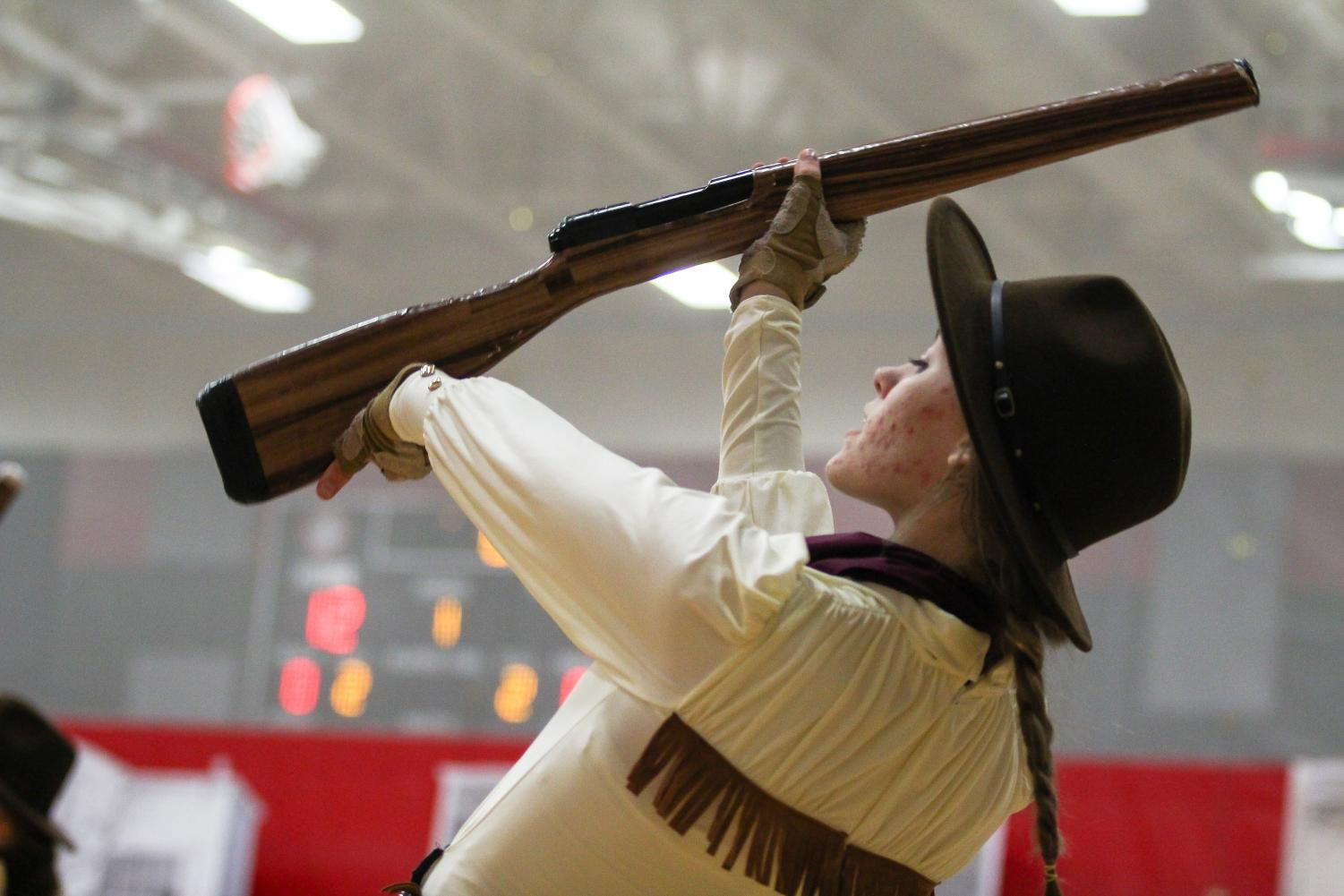 The North Texas Color Guard Association competition will be the first indoor competition for the school to host.
