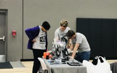 Two robotics teams break school records