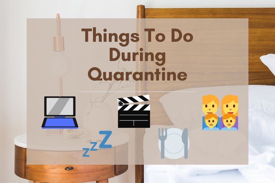 Quarantine means keeping your distance to protect yourself and your community. This piece shares ideas from buying toilet paper to spending time with family.