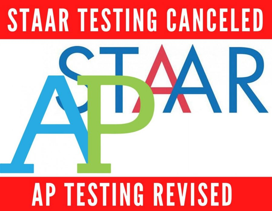 The STAAR tests are cancelled for the 2019-20 school year. Additionally, AP exams have been altered to focus on short answers and essays.