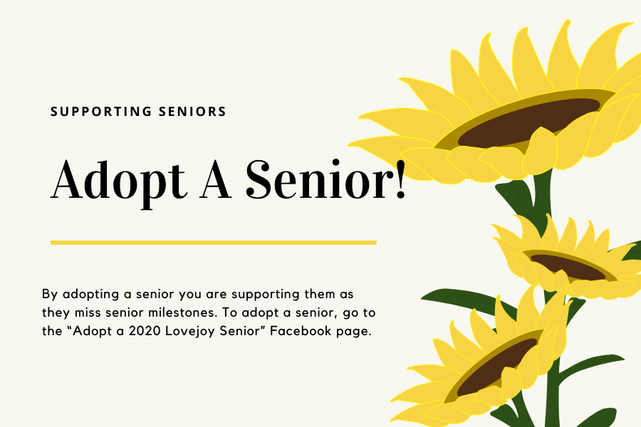 Junior Elle Brumley started the program, Adopt-A-Senior, as a way to support the senior class after the school year was cut short.