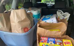 Many community members participated in the food drive through organizations such as the National Charity League.