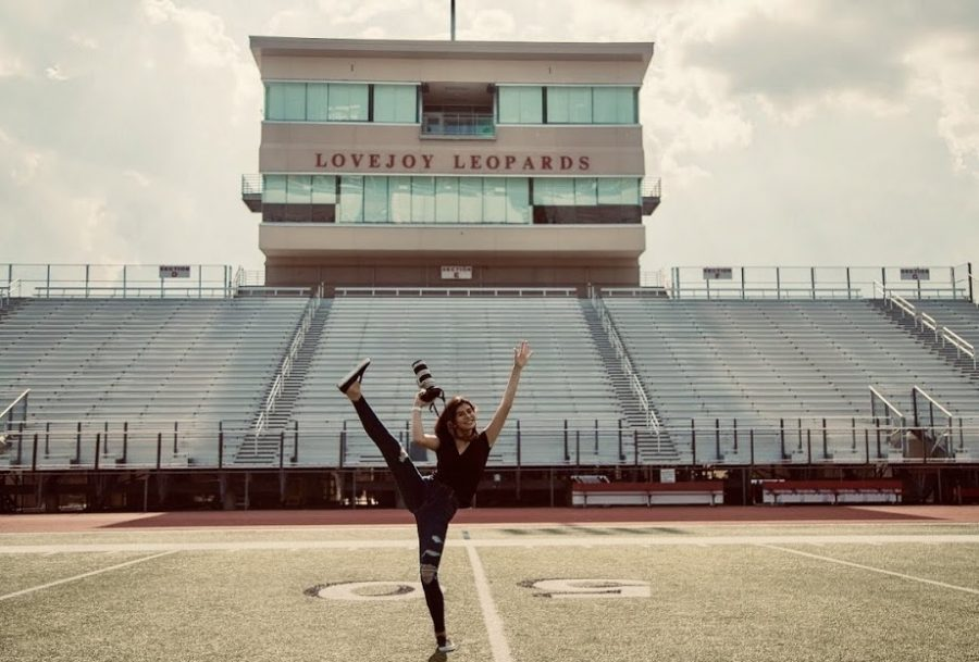 Senior Shae Daugherty revisits Leopard Stadium where she spent friday nights capturing the football team's victories and teaching underclassmen how to shoot sports photography.