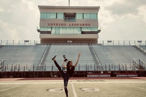 Senior Shae Daugherty revisits Leopard Stadium where she spent friday nights capturing the football team