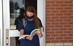 Freshman Lauren Dolberry prepares to enter school this fall with new health and safety guidelines in place from the Texas Education Agency. Students in the district will have the choice to attend school in person or take classes online.