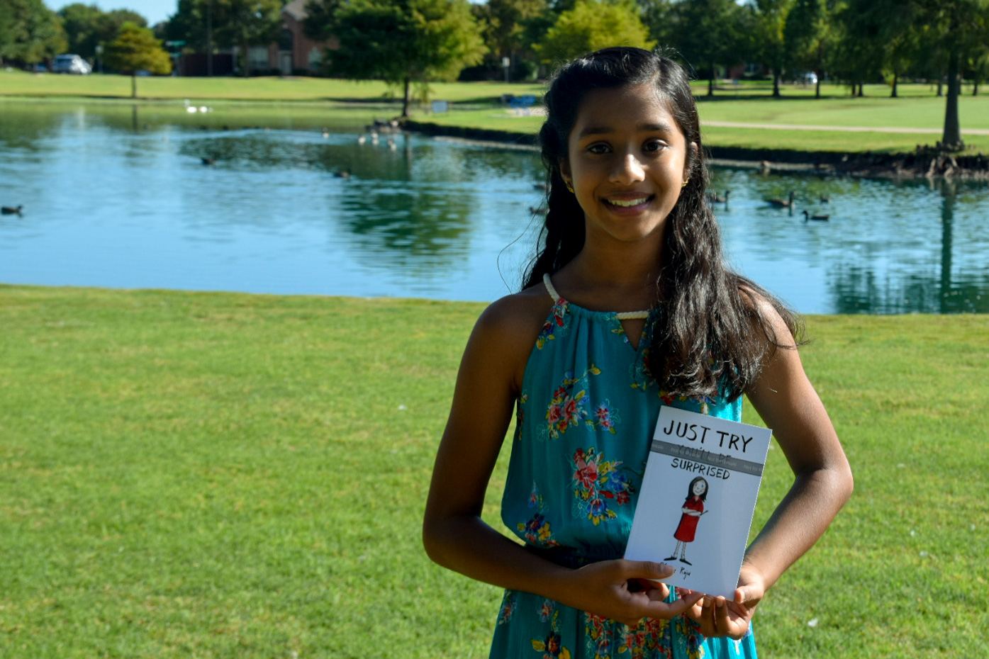 "Fifth-grader, Venya Raju, is a published author of ""Just Try: You"