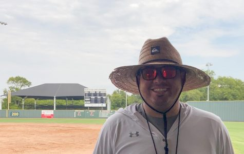 DJ Lopez is the new head coach of the Lady Leopards softball program. He moved from El Paso over the summer to join the team.