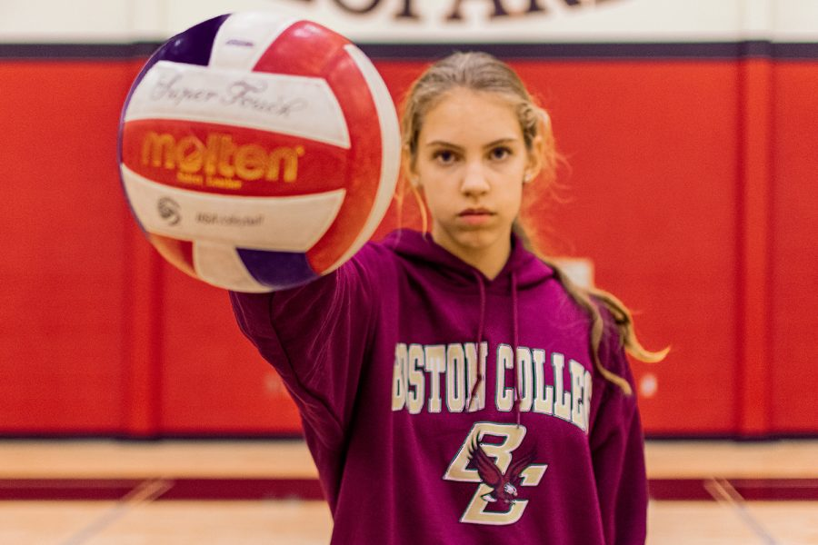 Junior+Grace+Milliken+recently+committed+to+Boston+College+to+further+her+volleyball+career.+Milliken+currently+plays+as+a+middle+hitter+for+Lovejoy.