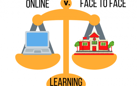With the district providing learning options for students, two staff members, Audrey McCaffity and Margo Friloux, share their unique perspectives on online versus face-to-face learning.