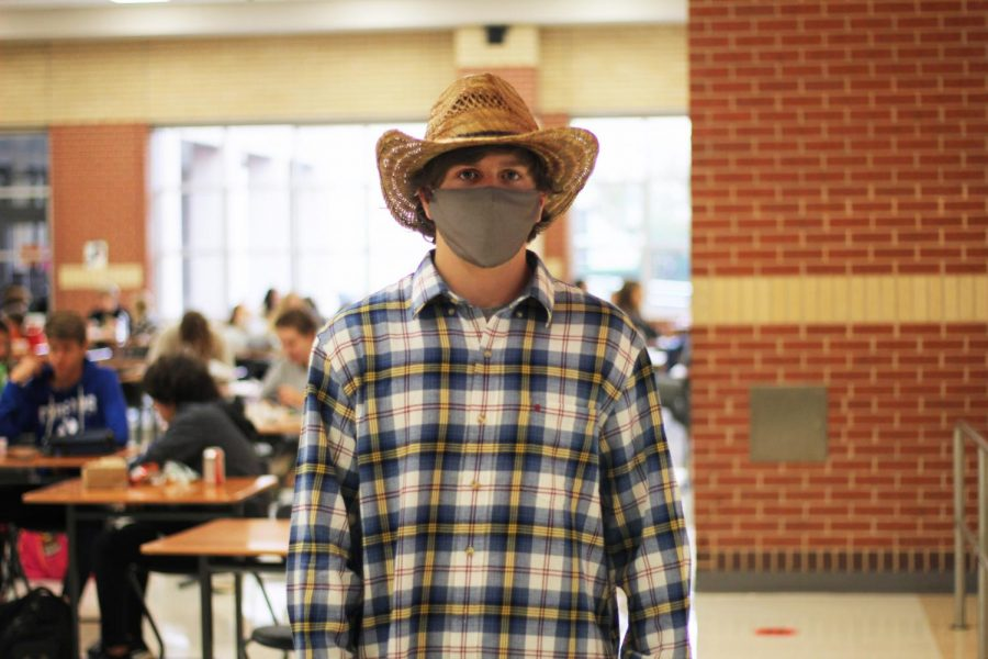 Junior Griffin Peay wears cowboy clothes for Western Wednesday. Peay is a basketball player for the high school.