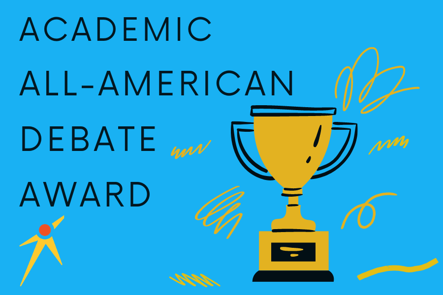 Six seniors received the Academic All American award from the National Speech and Debate Association. These six are of the 12 total students from the school that have received the award historically.