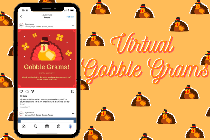 Gobble Grams are notes showing appreciation for district staff members, which are sent and collected leading up to Thanksgiving. This year, student council has switched the Gobble Grams to a Google Form.