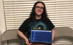 Junior Zander Urquhart has been coding for five years. He has been programming weather maps for more than a year.