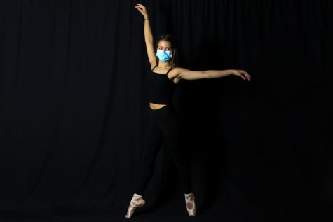 Freshmen Julie Snow dances for the Academy of Dance Arts. Snow will perform in the studio