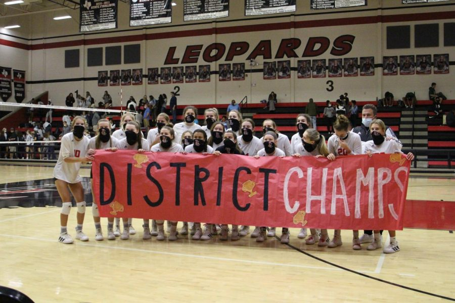 The Leopards are the district champions after a 14-0 district season. The team will play their last game before playoffs tonight.