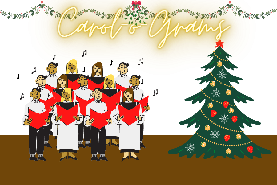 This+year+choir+hosted+their+Carol-o-Grams+event+in+drive+through+format.+The+event+featured+a+lot+of+activities+and+stations%2C+including+hot+chocolate+and+caroling.%0A