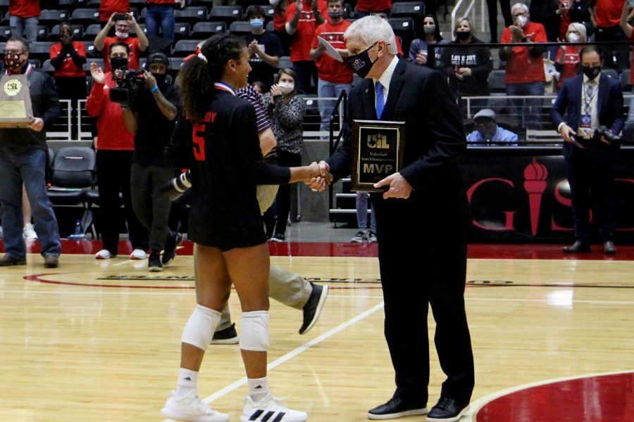 Senior Cecily Bramschreiber was given the UIL MVP award. Bramschreiber has committed to play volleyball for Texas Christian University.