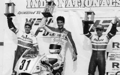 Michael Martin, first from the left, poses for a photo in a Nationals race in Indianapolis. Martin scored second place in this race.