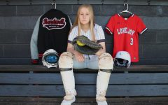 Sophomore Sydney Bardwell has been the starting varsity catcher since her freshman year. Bardwell was awarded with All District Honorable Mention last year.